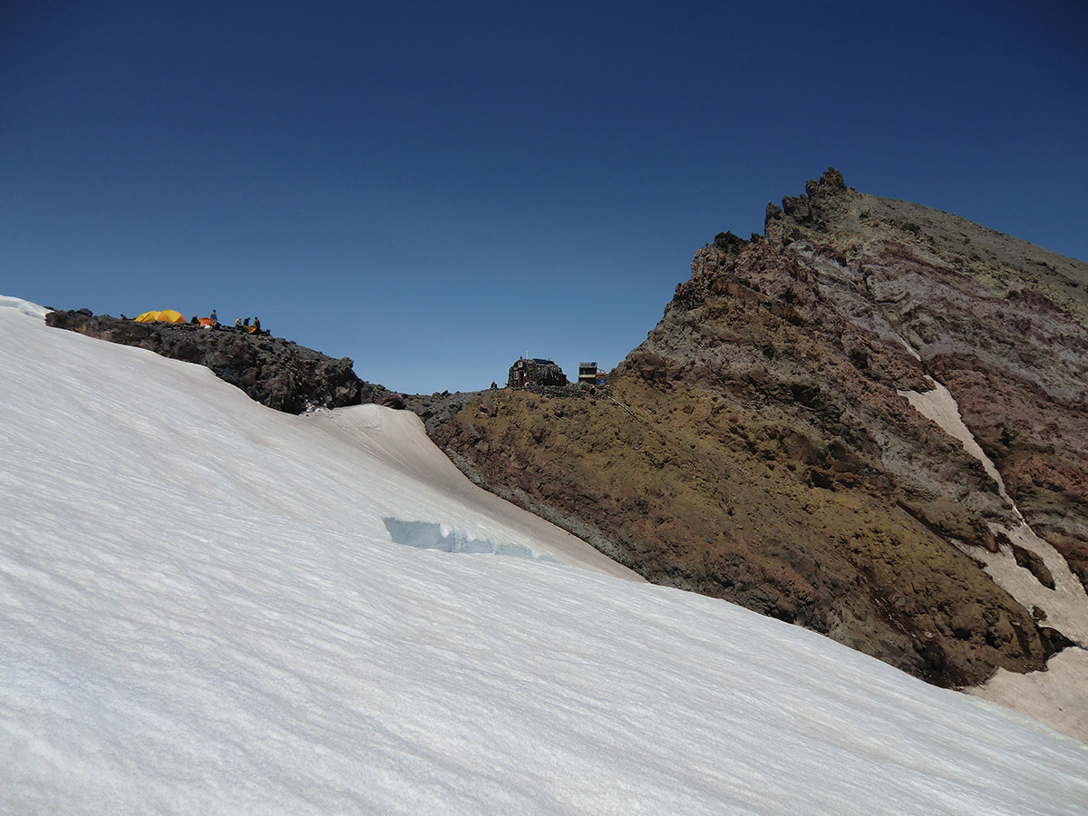 Camp Schurman from Emmons Glacier
