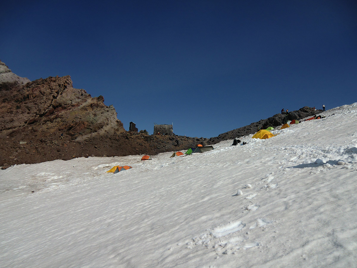Many Tents at Camp Schurman (9,460')