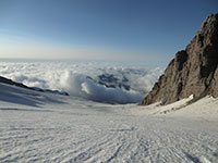 Looking Down the Winthrop Glacier from Camp Schurman