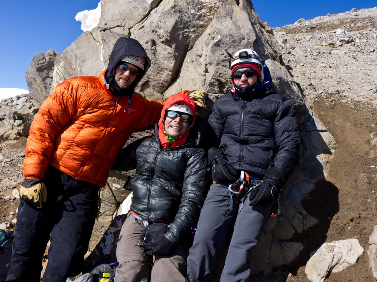 Louis, Matt, and I on the Columbia Crest Summit Ridge of Mt Rainier