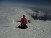 Matt Taking a Break on the Way Down Mt Rainier