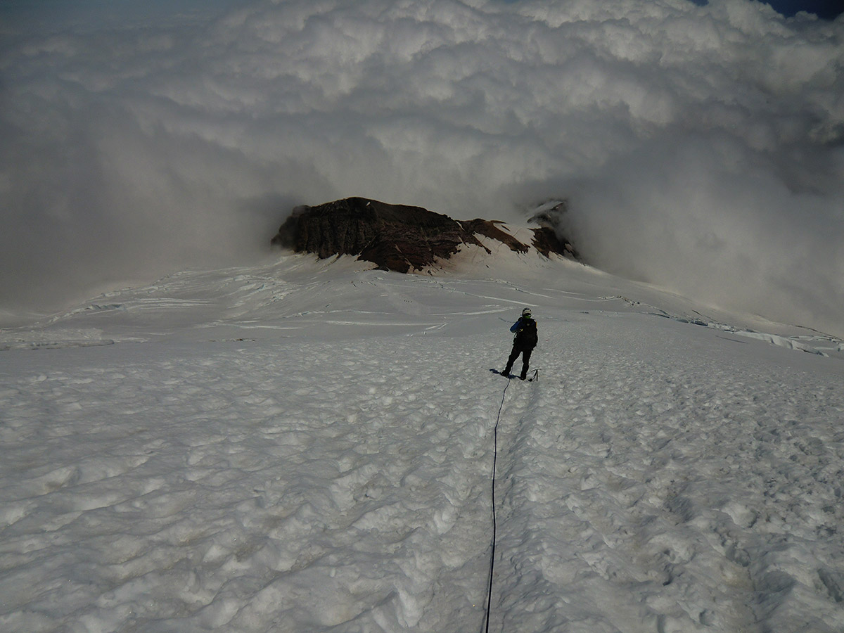 Matt Leading the Climb Back Down to Camp Schurman