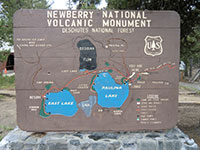 Newberry Volcanic National Monument Sign