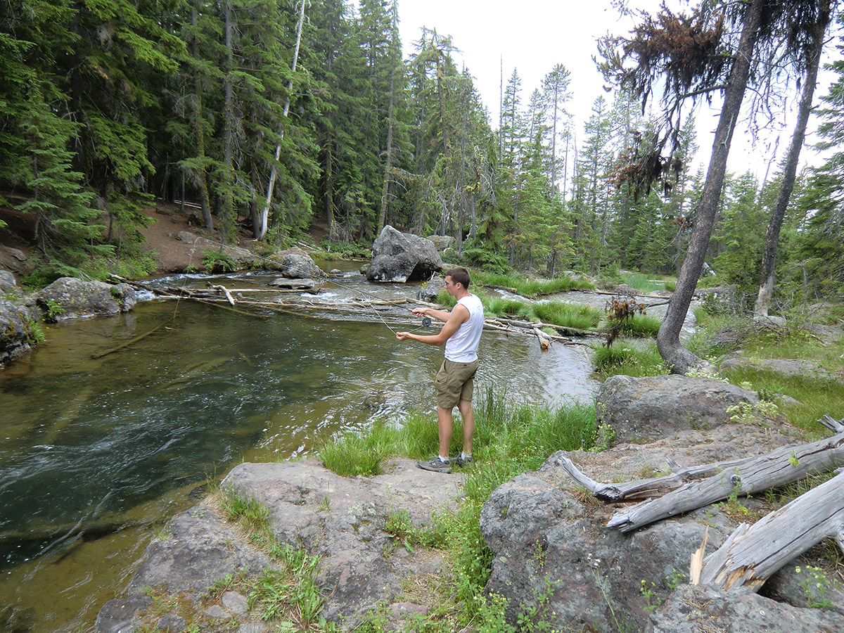 Jason Fishing Paulina Creek