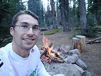 Me Enjoying Campfire Before Bed