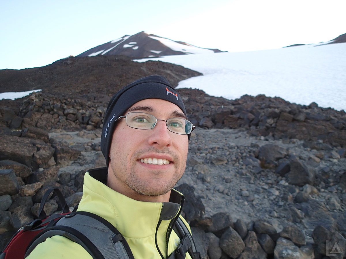 Me Taking a Break on Mt Adams