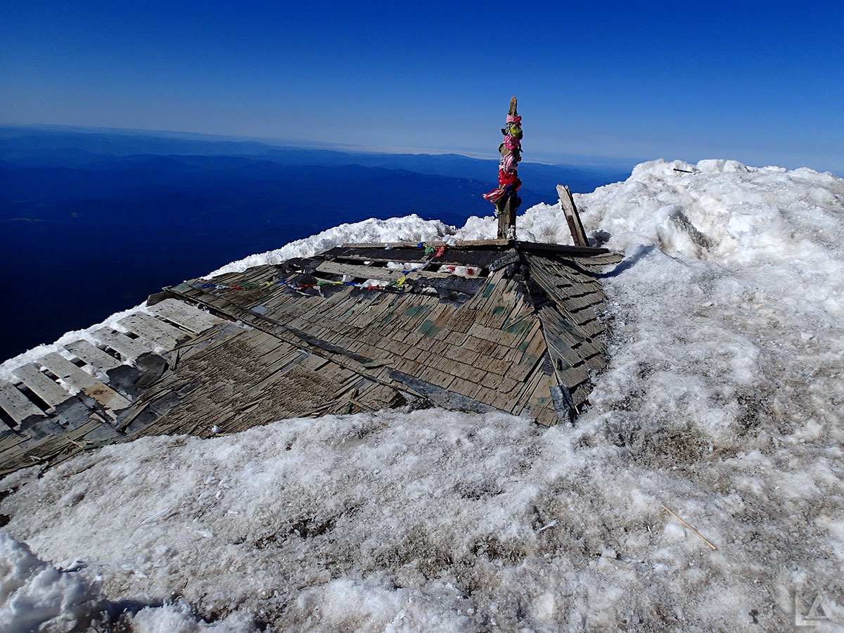 Old Fire Lookout Preserved in Snow and Ice
