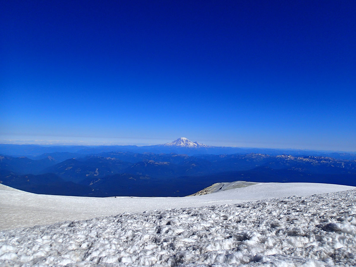 Mt Rainier from Summit of Mt Adams