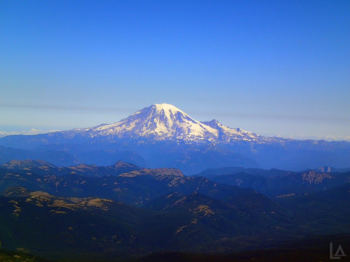 Closeup of Mt Rainier