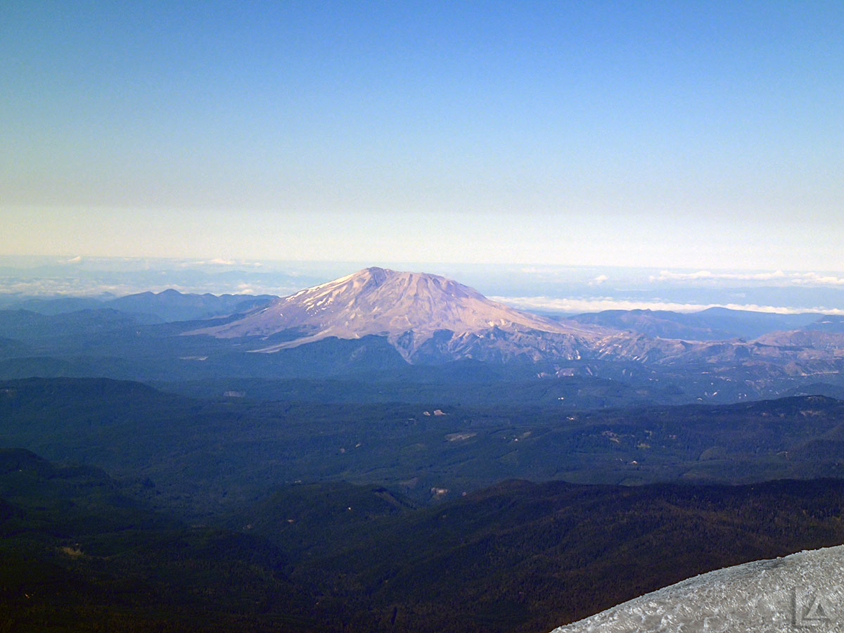 Closeup of Mt Saint Helens