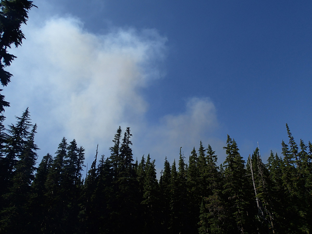 Small Wildfire West of Wall Lake