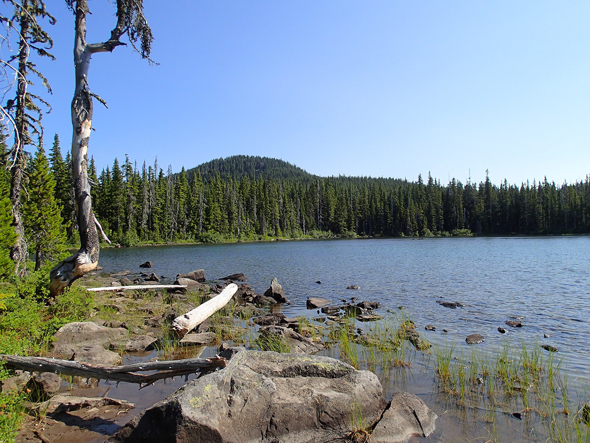 Averill Lake with Potato Butte in the Background