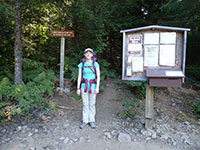 Katie at South Breitenbush Trailhead