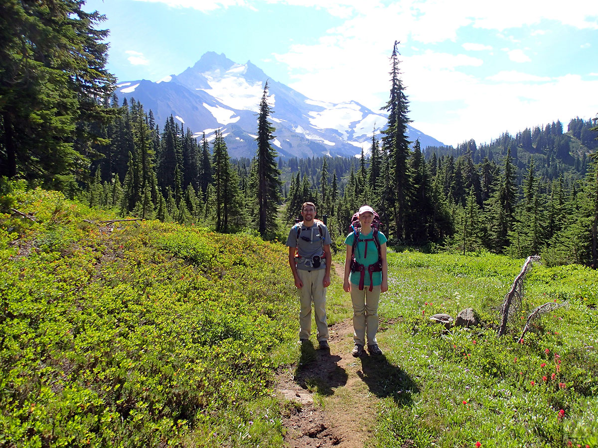 Jason and Katie with Mt Jefferson in the Background