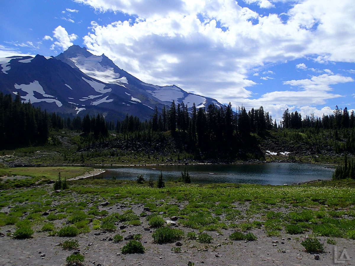 Park Lake with Mt Jefferson in the Background