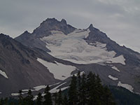 Closeup of Jefferson Park Glacier on Mt Jefferson