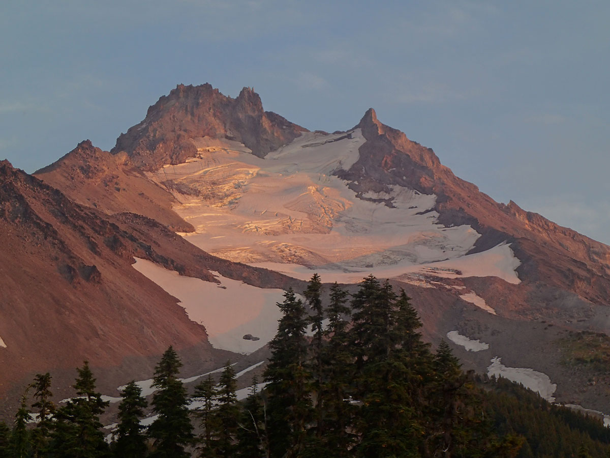 Closeup of Mt Jefferson at Sunset
