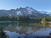 Mt Jefferson Reflected on Scout Lake at Sunrise