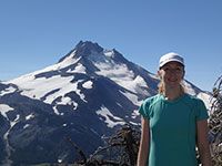 Katie with Mt Jefferson in the Background