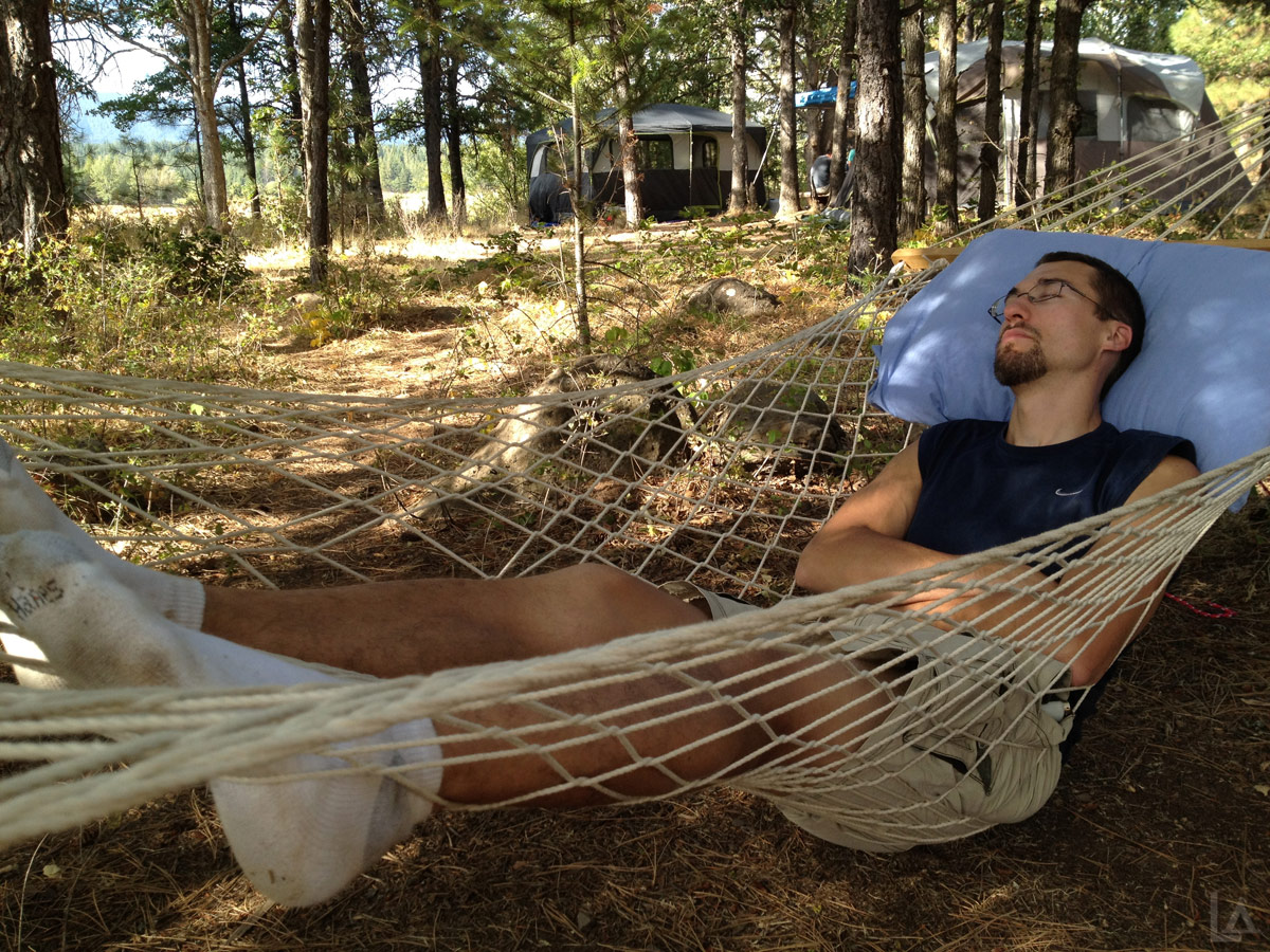 Jason Taking a Nap in a Hammock