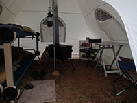 Inside of Canvas Spike Tent
