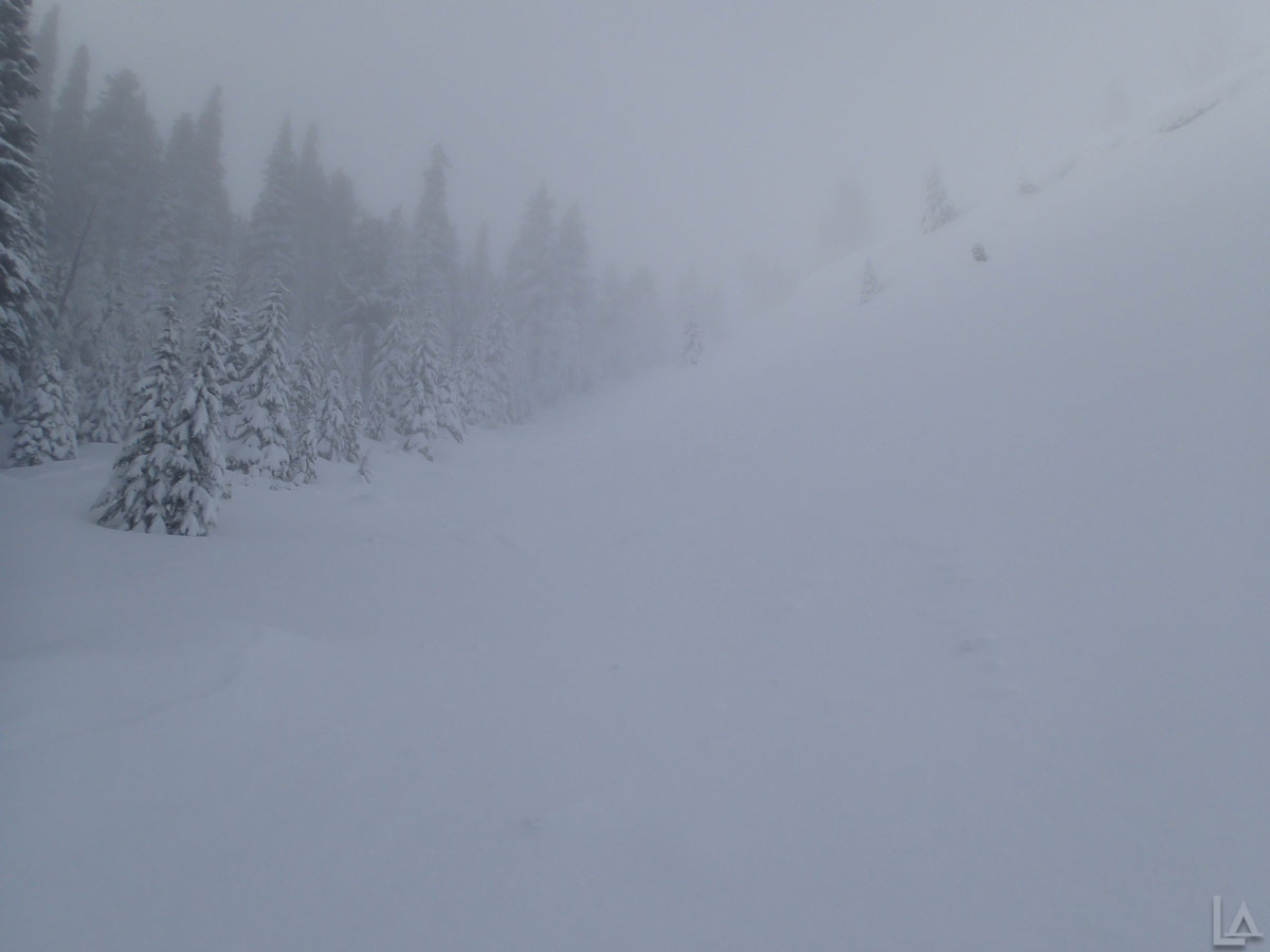 Steep Climb up Boy Scout Ridge with Low Visibility