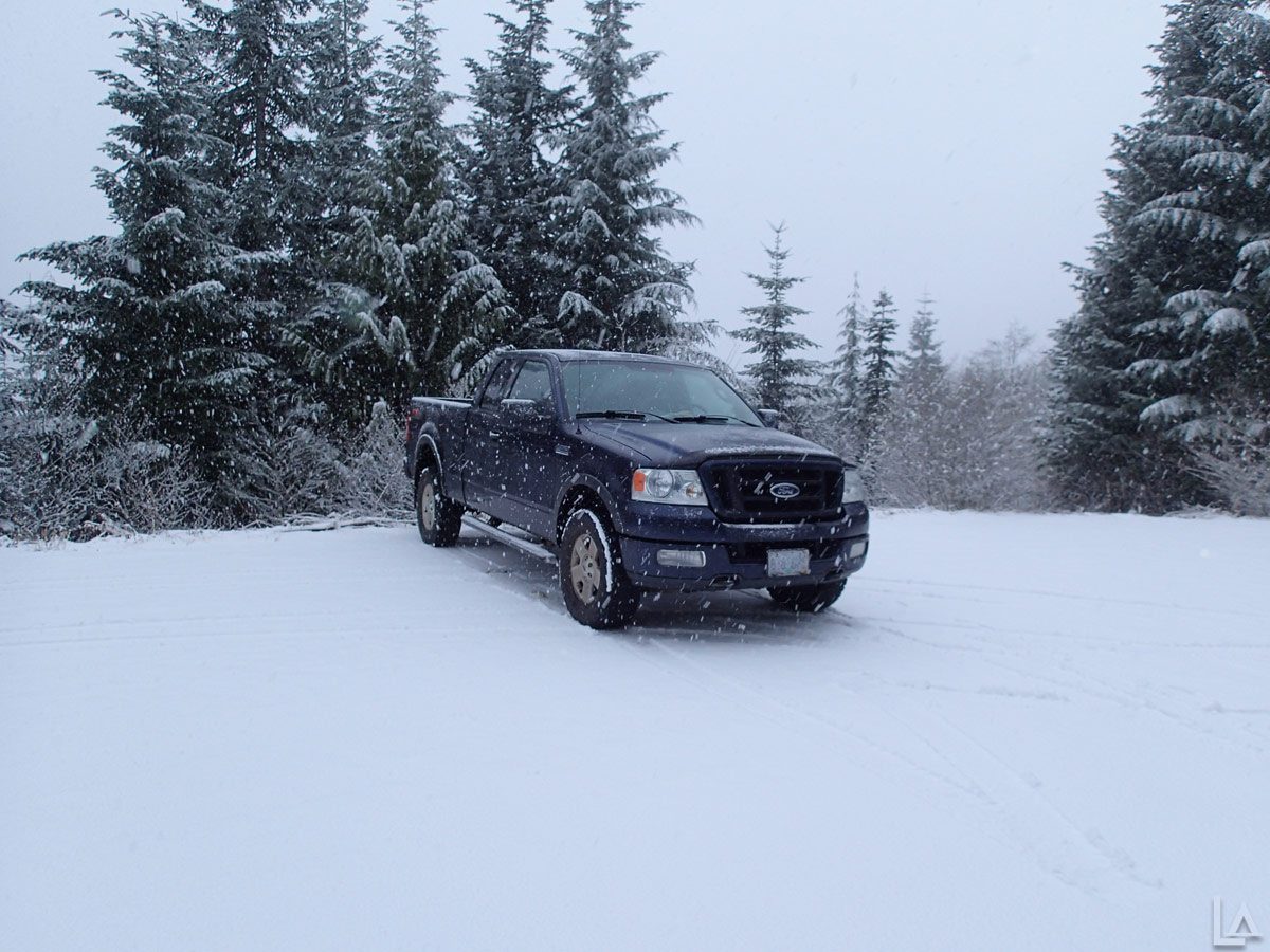 My Truck at the Top Spur Trailhead