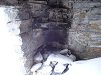 Fireplace in McNeil Point Shelter