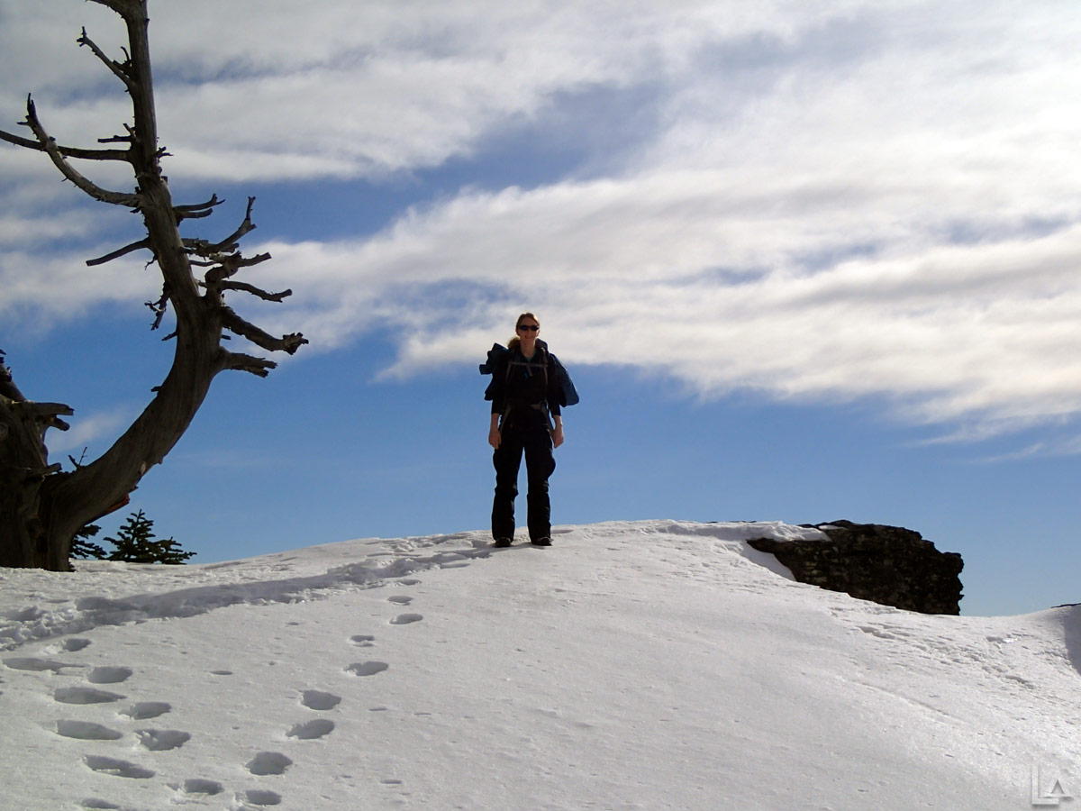 Lookout mountain hike and flag point lookout snowmobile for Point lookout fishing