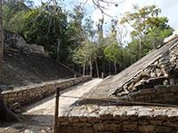Ball Court at Cobá Ruins