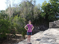 Katie at Cobá Ruins