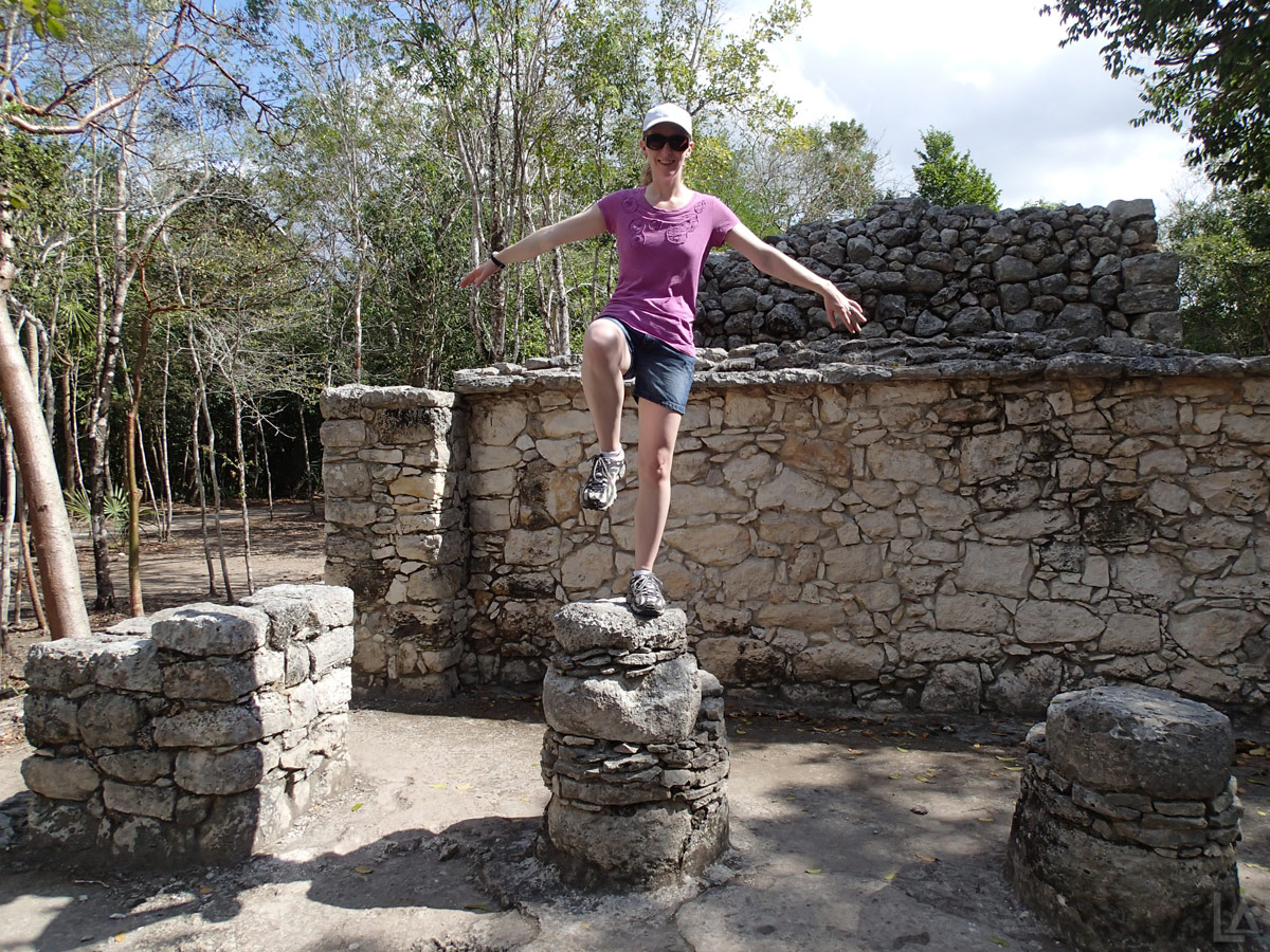 Katie Having Fun at Cobá Ruins