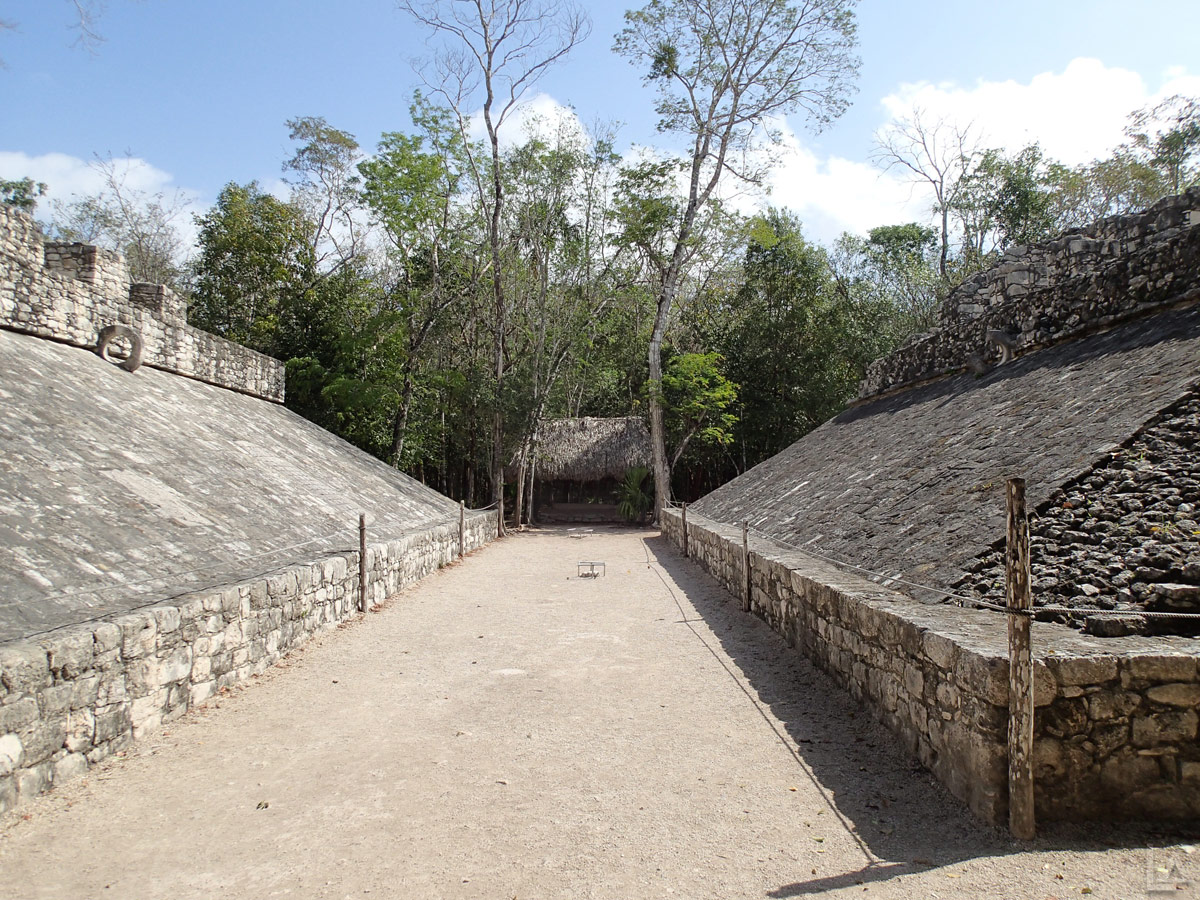 Another Ball Court at Cobá Ruins