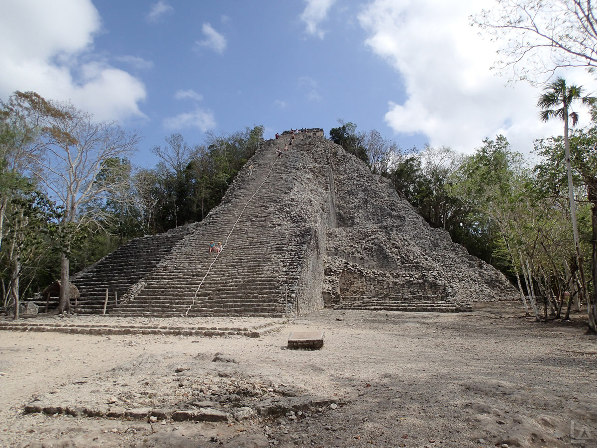 Nohoch Mul Pyramid at Cobá