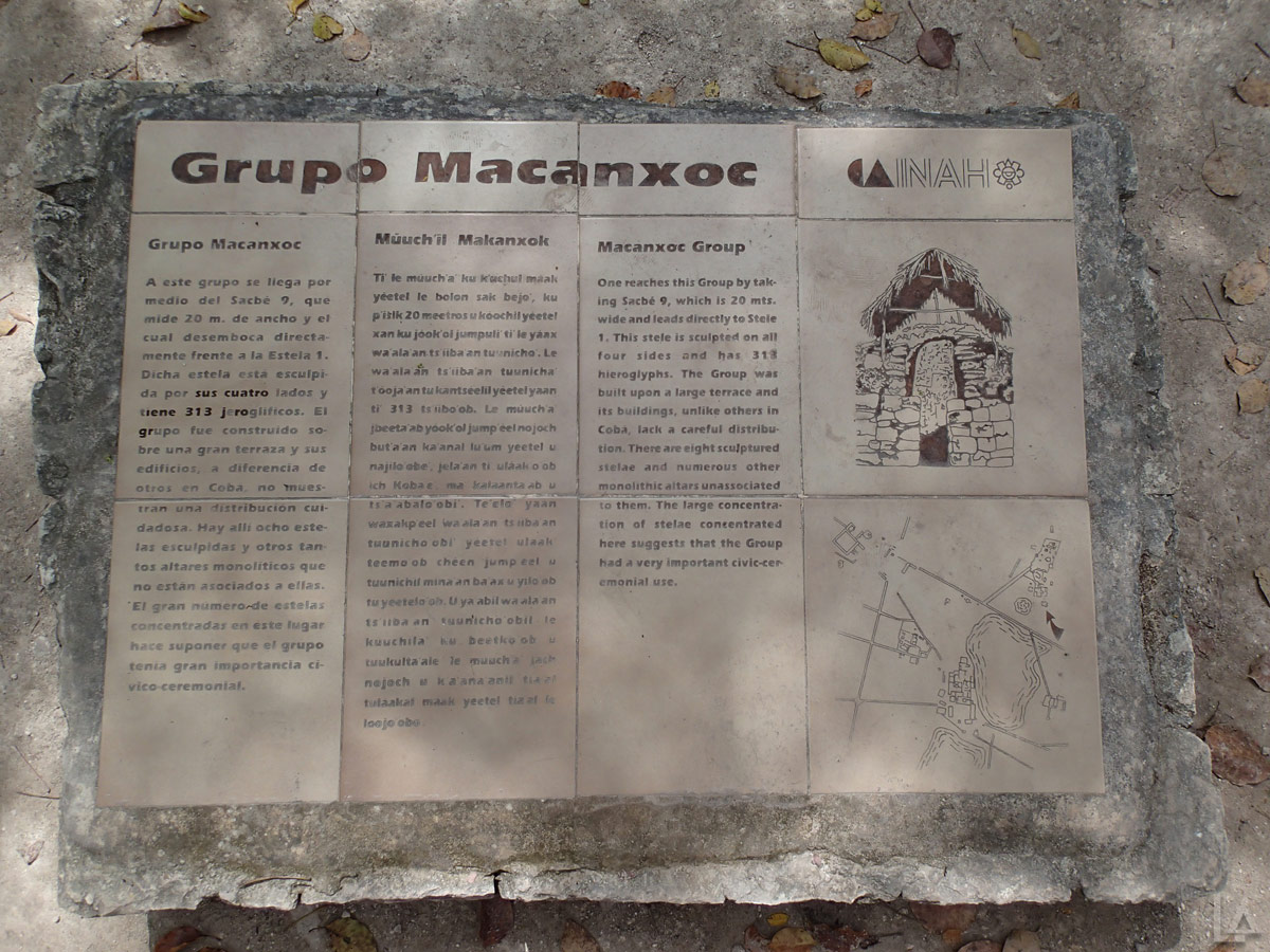 Macanxoe Group of Ruins Sign