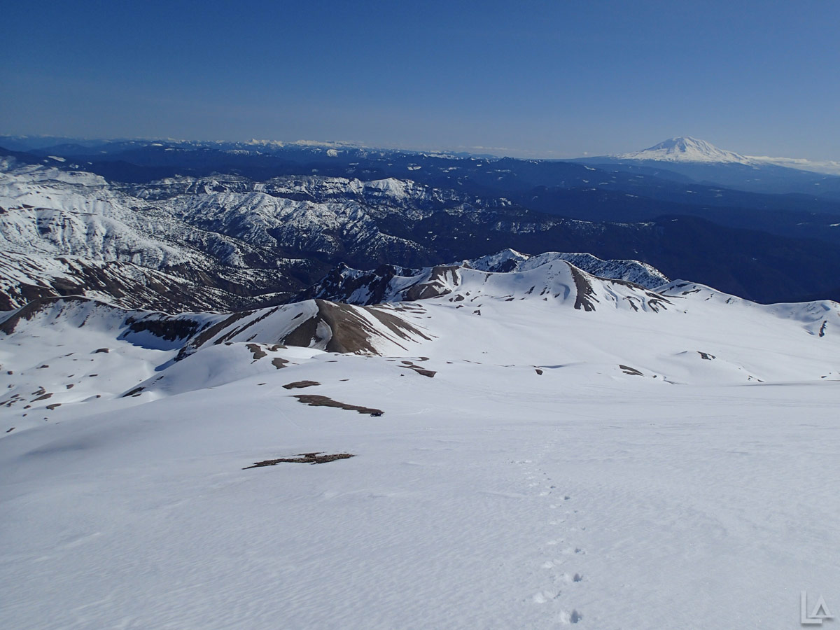 View Down the East Side of Mount Saint Helens