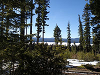 Little Snow on the North Side of Timothy Lake