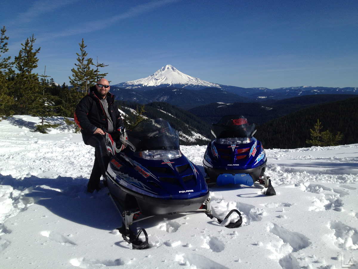 Donnie with Mt Hood in the Background