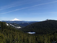 Mt Hood (left) and Wolf Peak (right)