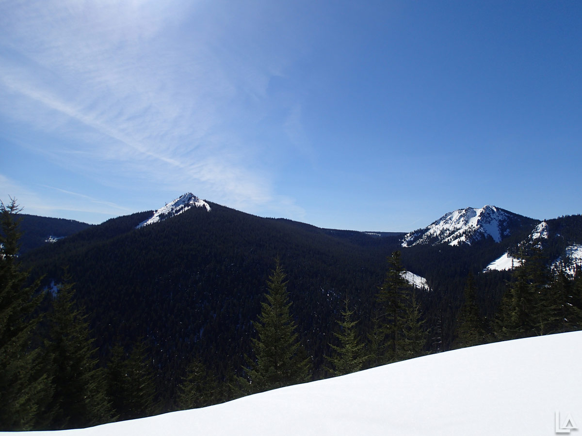 Wolf Peak (left) and High Rock (right)