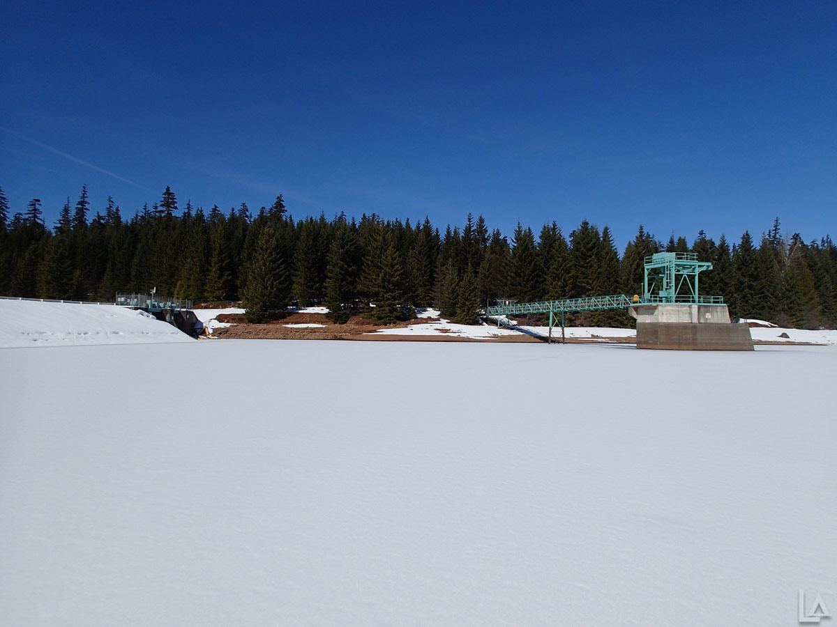 Timothy Lake Dam in the Winter