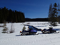 Snowmobiling by Clackamas Lake