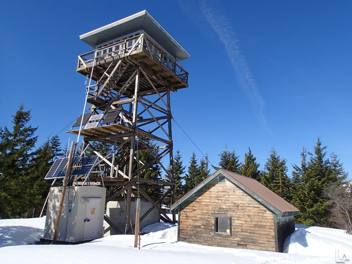 Clear Lake Lookout Tower in the Winter