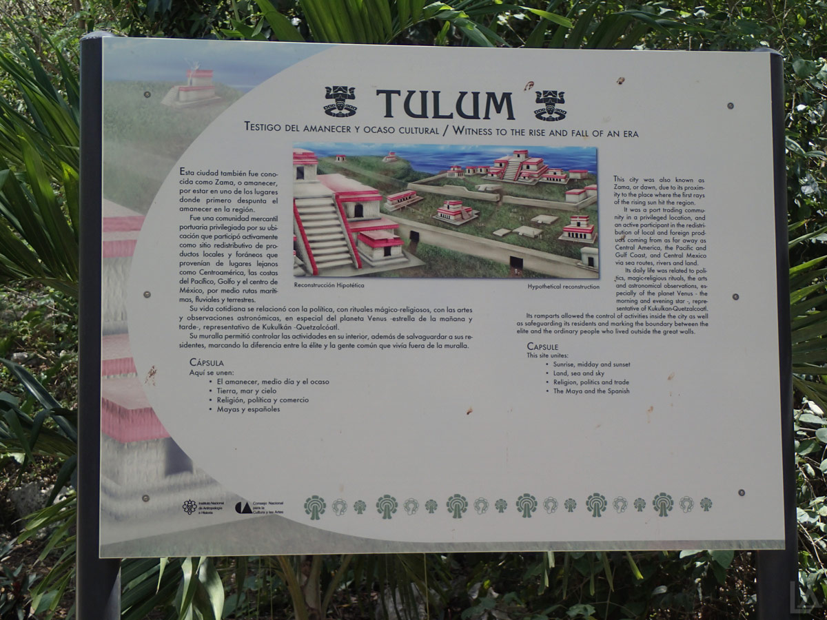 Tulum Ruins Interpretive Sign