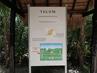 Another Tulum Ruins Interpretive Sign