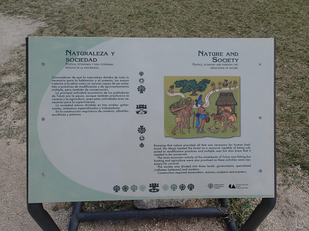Nature and Society in Tulum Interpretive Sign
