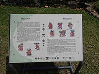 Religion in Tulum Interpretive Sign
