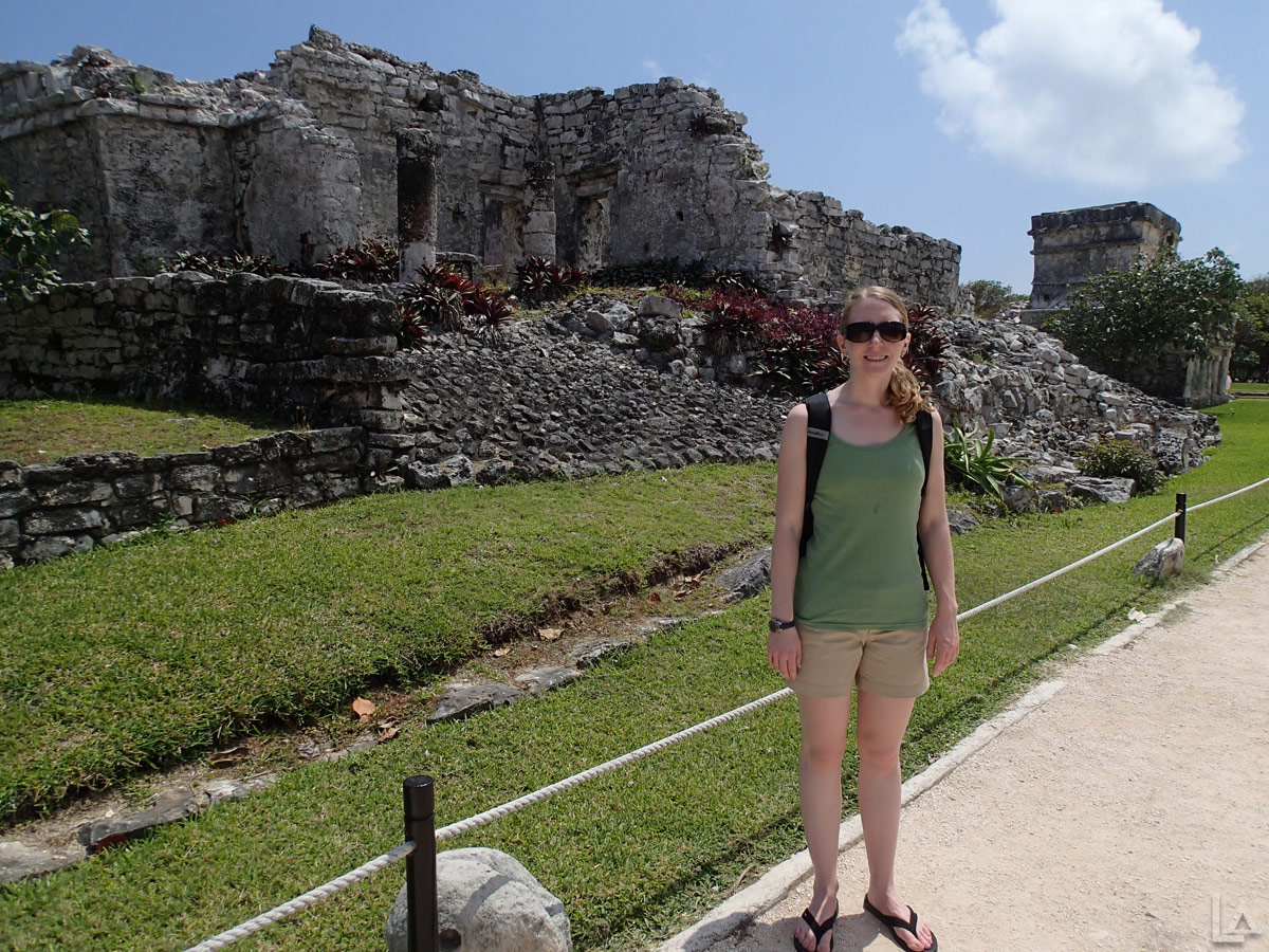 Katie at Tulum Ruins