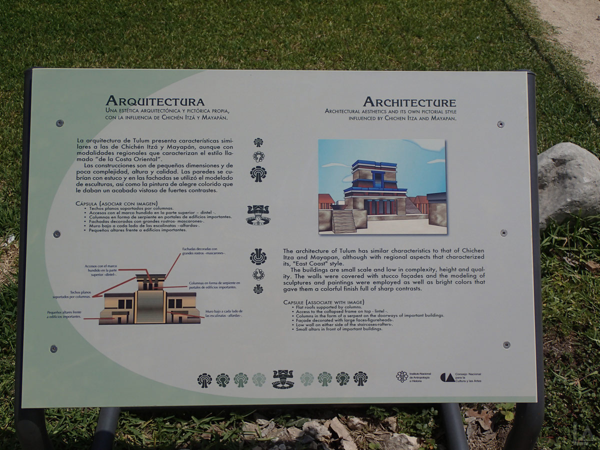 Architecture of Tulum Interpretive Sign