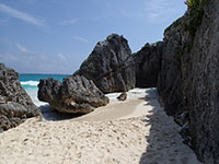 Quiet South End of the Public Beach at Tulum Ruins